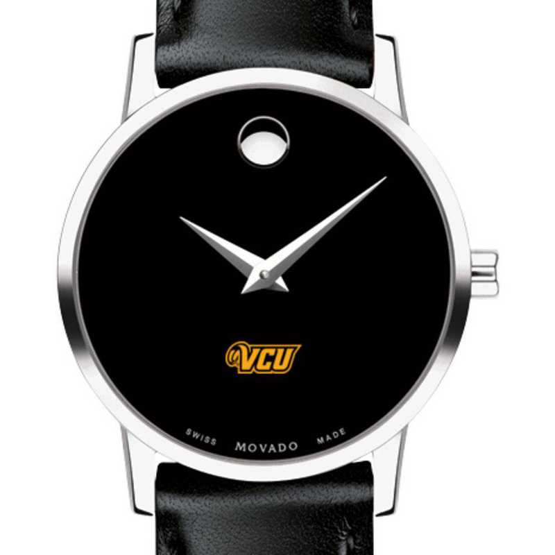 615789251873: Virginia Commonwealth Women's Movado Museum w Leather Strap
