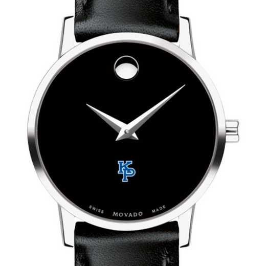 615789352044: US Merch Marine Academy Women Movado Museum w Leather Strap