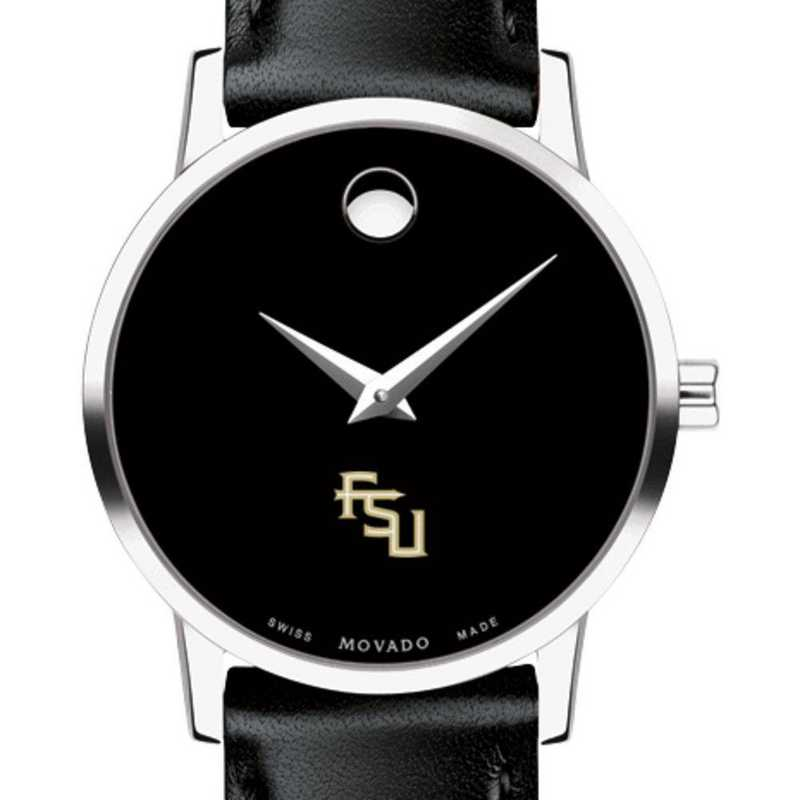 615789357995: Florida State Univ Women's Movado Museum w/ Leather Strap