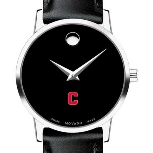 615789407959: Cornell Univ Women's Movado Museum w/ Leather Strap