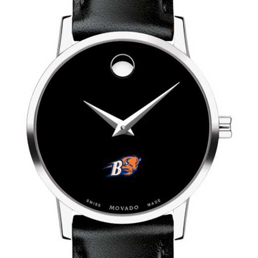 615789417262: Bucknell Univ Women's Movado Museum w/ Leather Strap