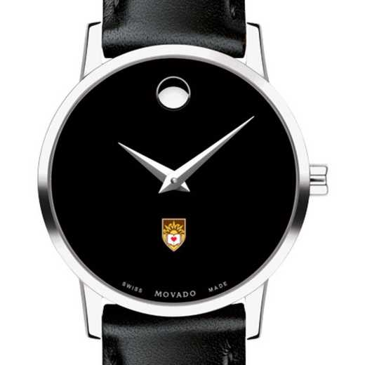 615789477655: Lehigh University Women's Movado Museum with Leather Strap