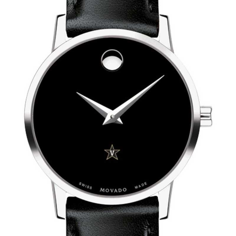 615789520467: Vanderbilt Univ Women's Movado Museum with Leather Strap
