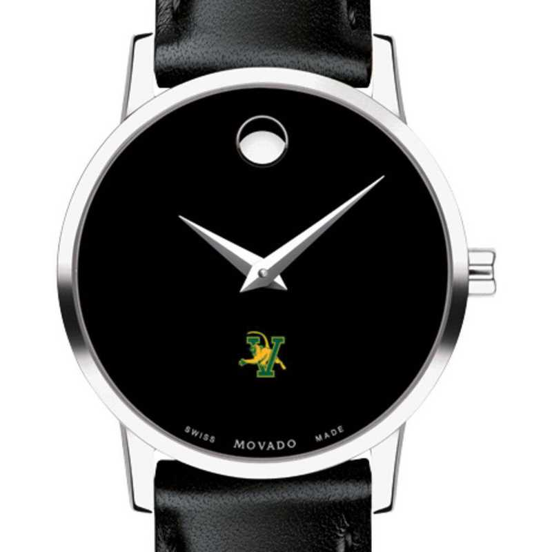 615789584834: Univ of Vermont Women's Movado Museum with Leather Strap