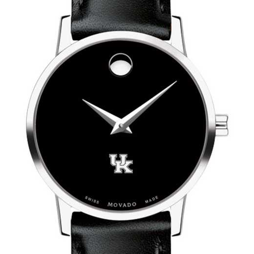 615789631989: Univ of Kentucky Women's Movado Museum with Leather Strap