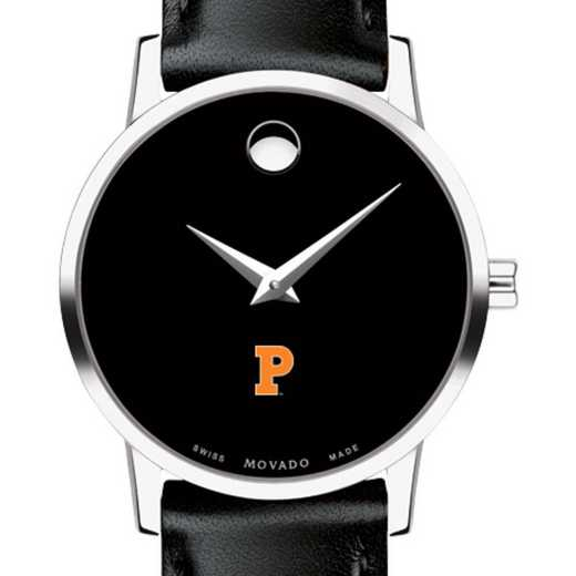 615789635666: Princeton Univer Women's Movado Museum with Leather Strap