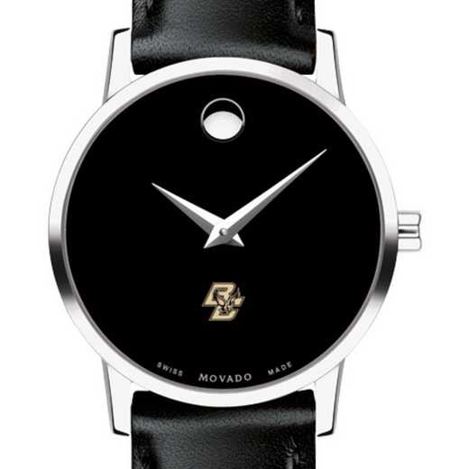 615789705383: Boston College Women's Movado Museum w/ Leather Strap
