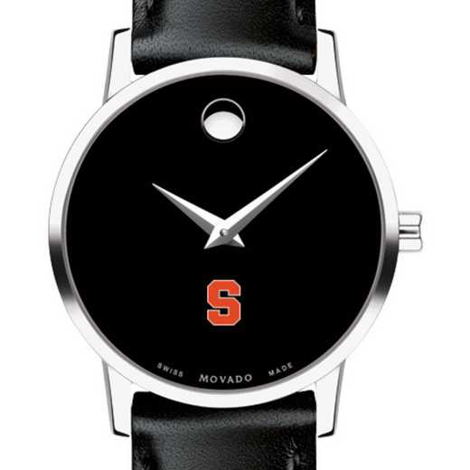 615789755869: Syracuse Univers Women's Movado Museum with Leather Strap