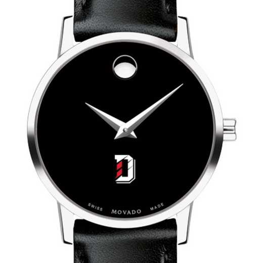 615789764410: Davidson College Women's Movado Museum w/ Leather Strap