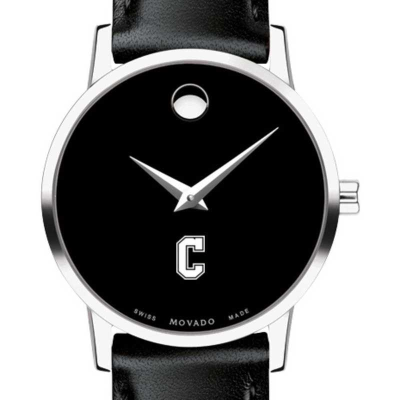 615789781226: College of Charleston Women's Movado Museum w/ Leather Strap