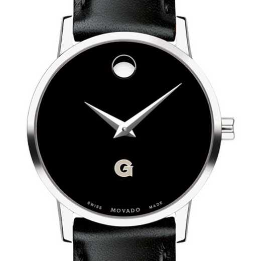 615789800101: Georgetown Univ Women's Movado Museum w/ Leather Strap