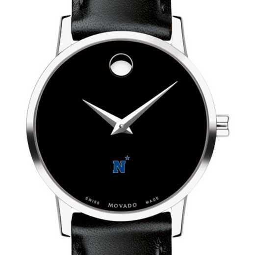 615789833093: US Naval Academy Women's Movado Museum with Leather Strap
