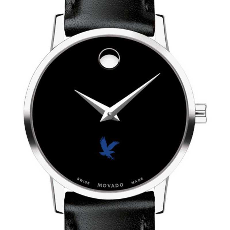 615789885511: Embry-Riddle Women's Movado Museum w/ Leather Strap