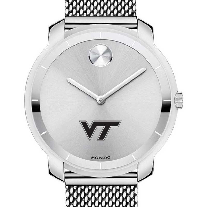 615789010135: Virginia Tech Women's Movado Stainless Bold 36