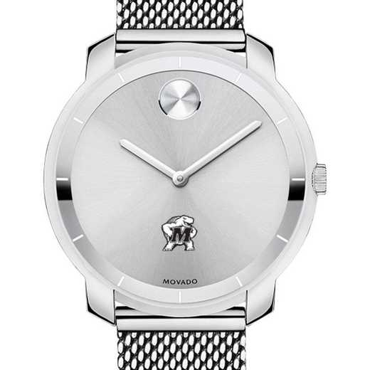615789093435: University of Maryland Women's Movado Stainless Bold 36
