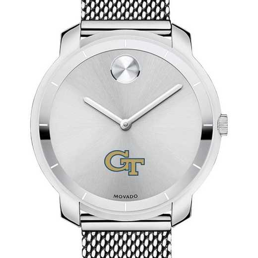 615789101017: Georgia Tech Women's Movado Stainless Bold 36