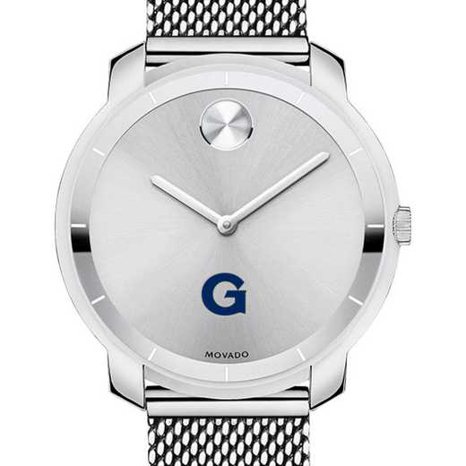 615789117544: Georgetown Univ Women's Movado Stainless Bold 36