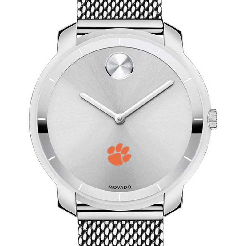 615789206637: Clemson Women's Movado Stainless Bold 36
