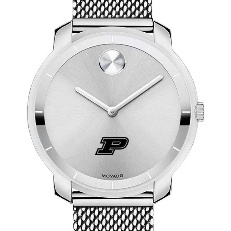 615789213321: Purdue Univ Women's Movado Stainless Bold 36
