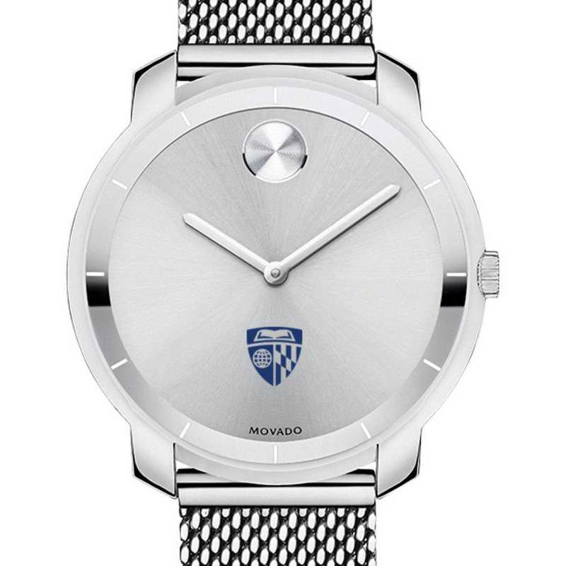 615789405177: Johns Hopkins Univ Women's Movado Stainless Bold 36