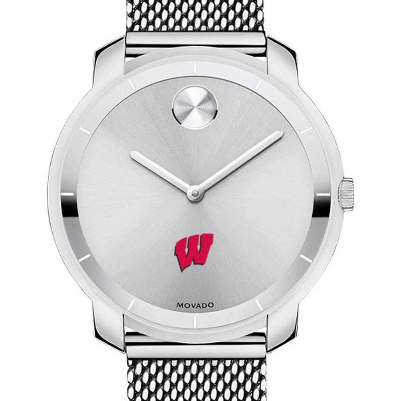 615789432111: Univ of Wisconsin Women's Movado Stainless Bold 36