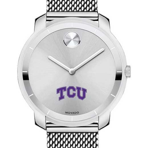 615789447498: Texas Christian Un Women's Movado Stainless Bold 36