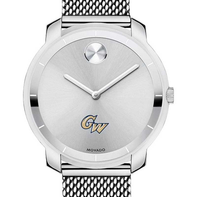 615789550730: George Washington Univ Women's Movado Stainless Bold 36