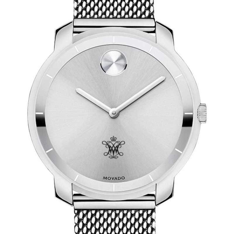 615789810513: College of William & Mary Women's Movado Stainless Bold 36