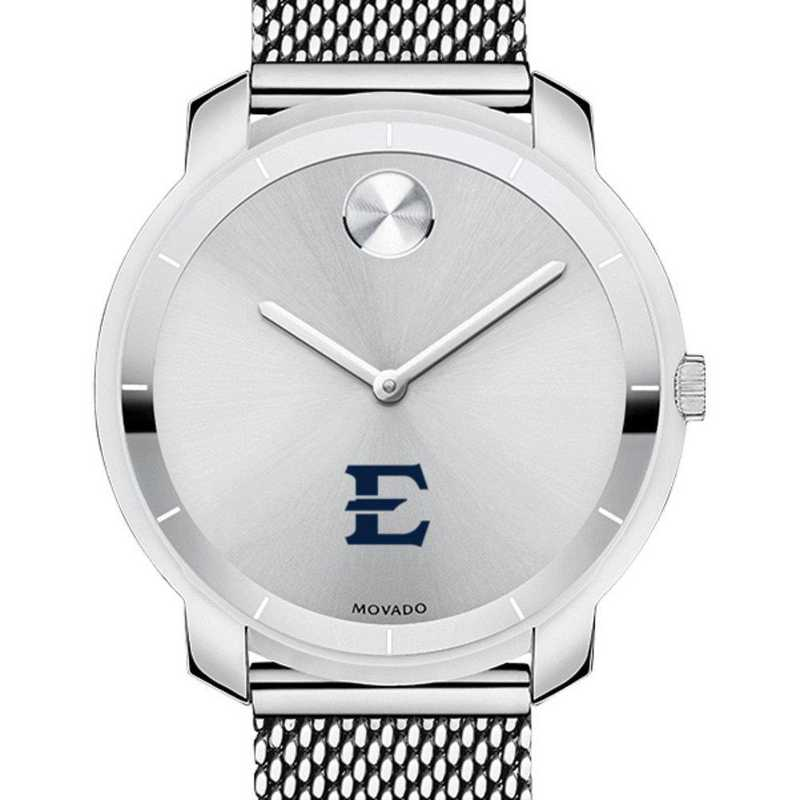 615789938859: East Tennessee State Univ Women's Movado Stainless Bold 36