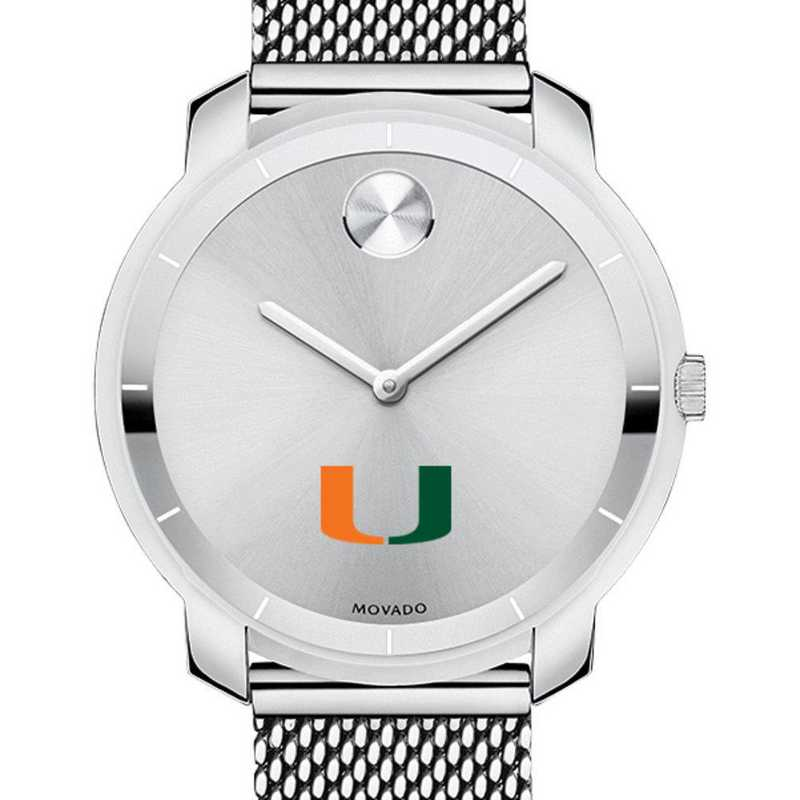 615789946298: University of Miami Women's Movado Stainless Bold 36
