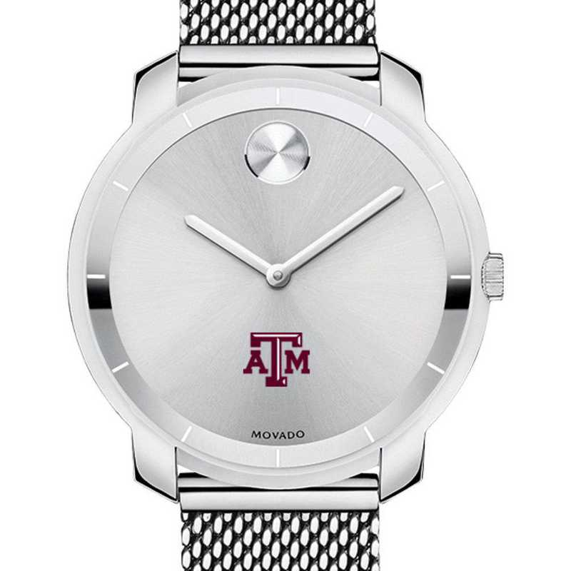 615789951117: Texas A&M Univ Women's Movado Stainless Bold 36