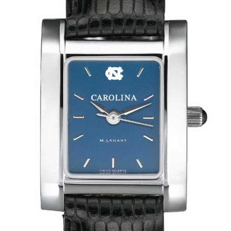 615789168256: UNC Women's Blue Quad Watch W/ Leather Bracelet