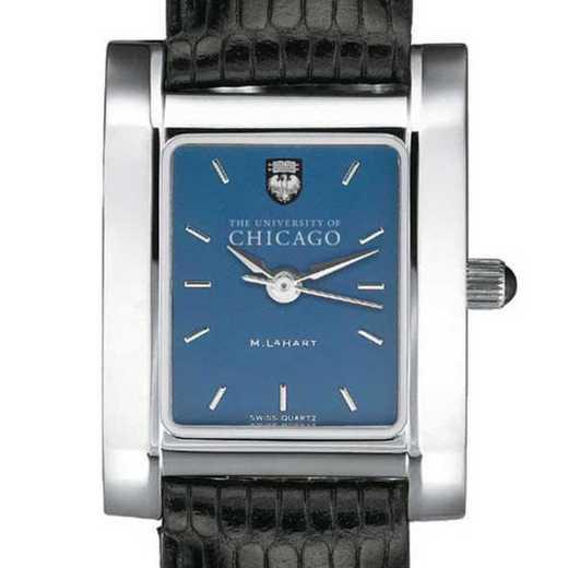 615789182139: Chicago Women's Blue Quad Watch W/ Leather Strap