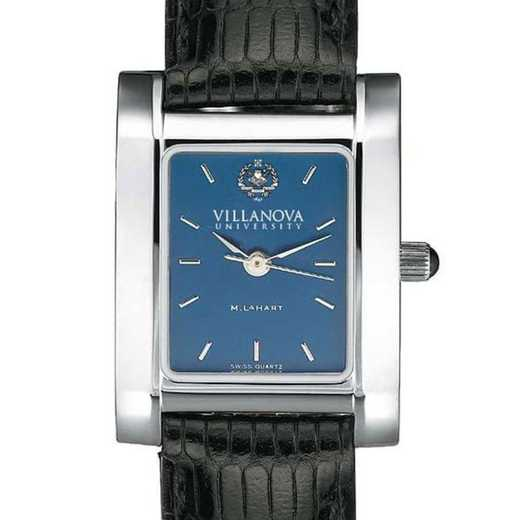 615789188773: Villanova Women's Blue Quad Watch W/ Leather Strap