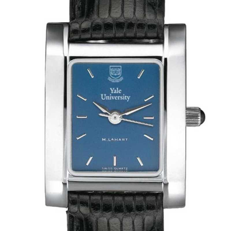 615789410478: Yale Women's Blue Quad Watch W/ Leather Strap