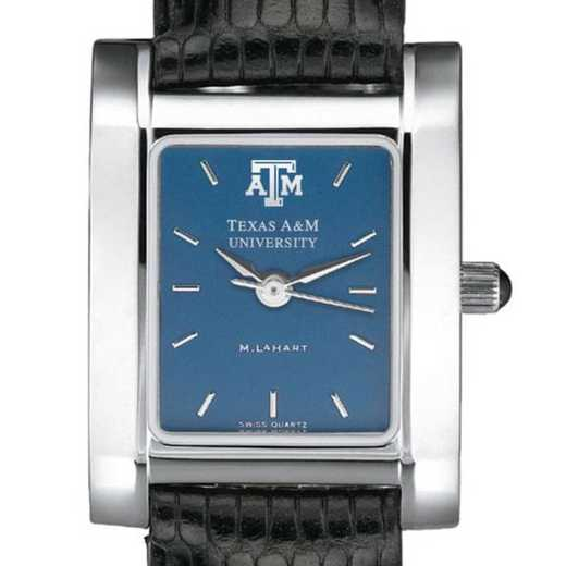 615789411031: Texas A&M Women's Blue Quad Watch W/ Leather Strap