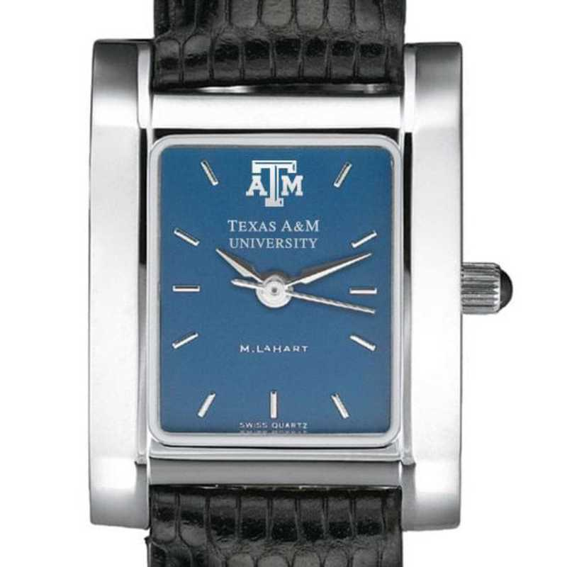 615789411031: Texas A&M Women's Blue Quad Watch W/ Leather Strap