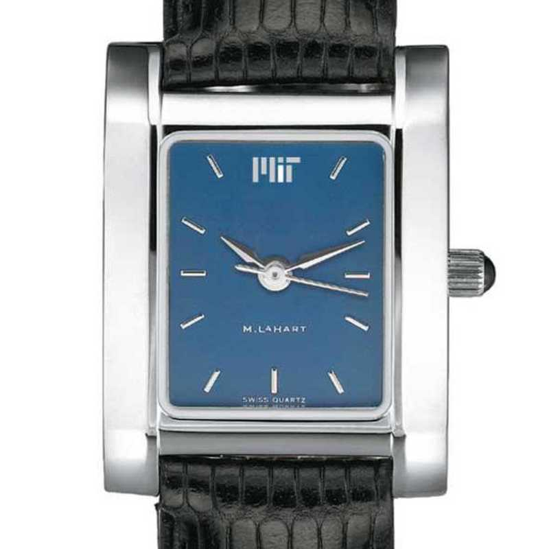 615789544470: MIT Women's Blue Quad Watch W/ Leather Strap