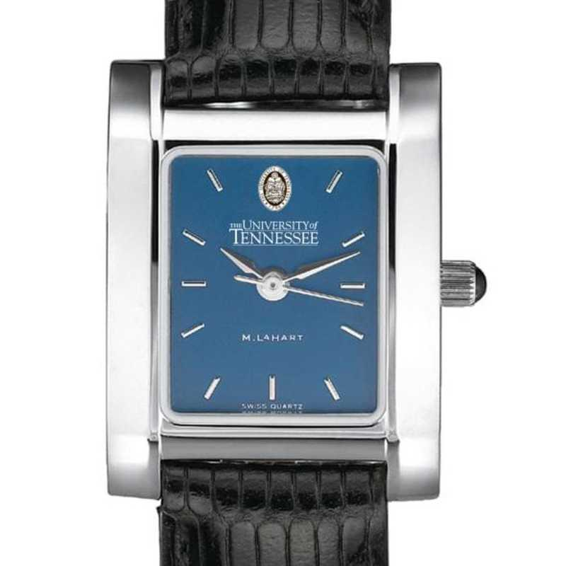 615789696124: Tennessee Women's Blue Quad Watch W/ Leather Strap