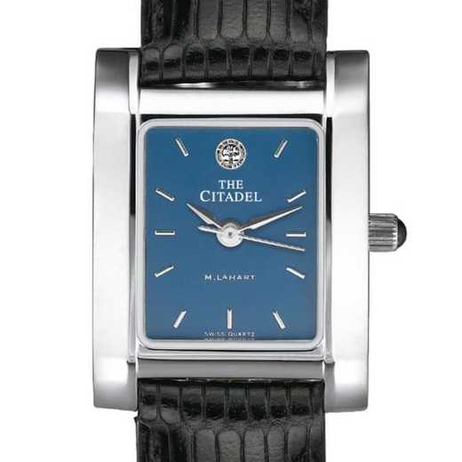 615789751168: Citadel Women's Blue Quad Watch W/ Leather Strap
