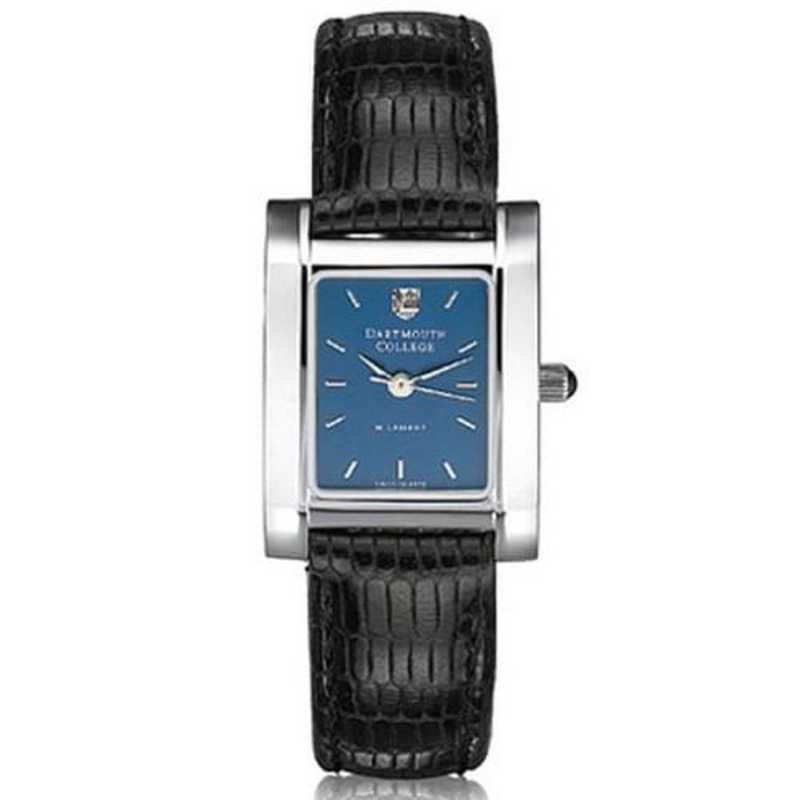 615789769002: Dartmouth Women's Blue Quad Watch W/ Leather Strap