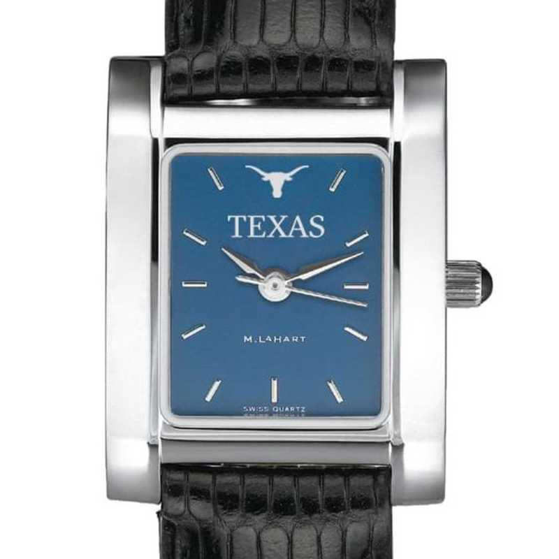 615789787617: Texas Women's Blue Quad Watch W/ Leather Strap