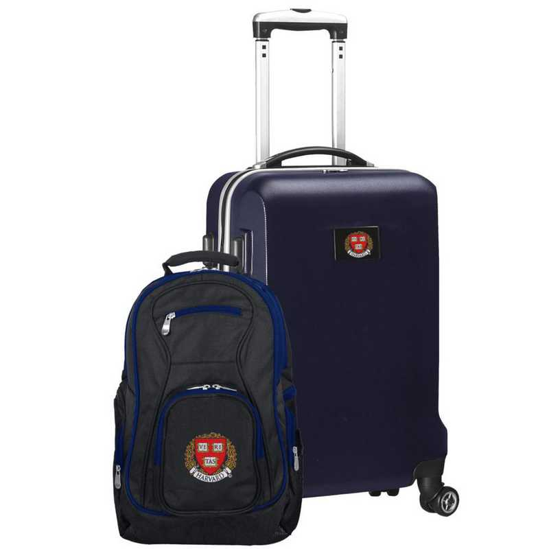 CLHAL104-NAVY: Harvard Crimson Deluxe 2PC BP / Carry on Set