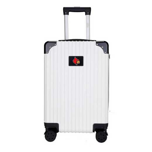 "CLLOL210-WHITE: Louisville Cardinals Premium 21"" Carry-On Hardcase"