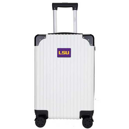"CLLSL210-WHITE: Louisiana Tigers Premium 21"" Carry-On Hardcase"