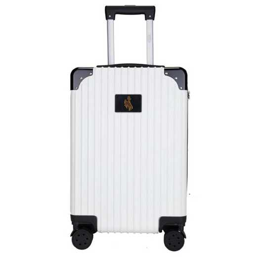 "CLWYL210-WHITE: Wyoming Cowboys Premium 21"" Carry-On Hardcase"