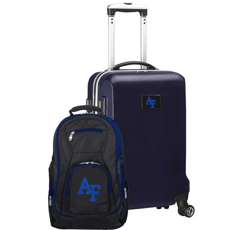 CLAFL104-NAVY: Air Force Falcons Deluxe 2PC BP / Carry on Set