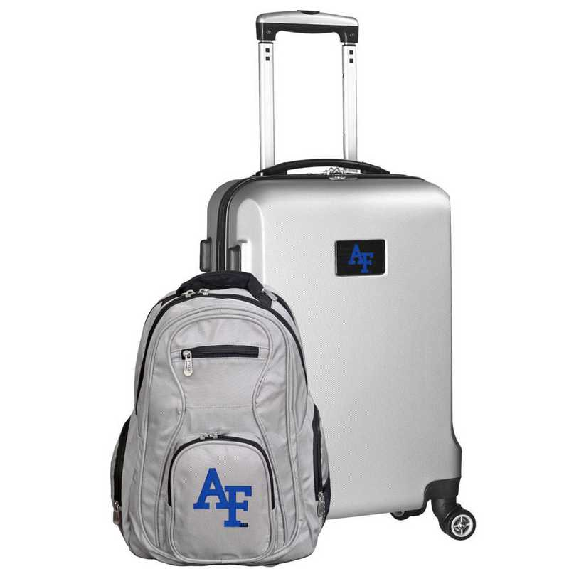 CLAFL104-SILVER: Air Force Falcons Deluxe 2PC BP / Carry on Set