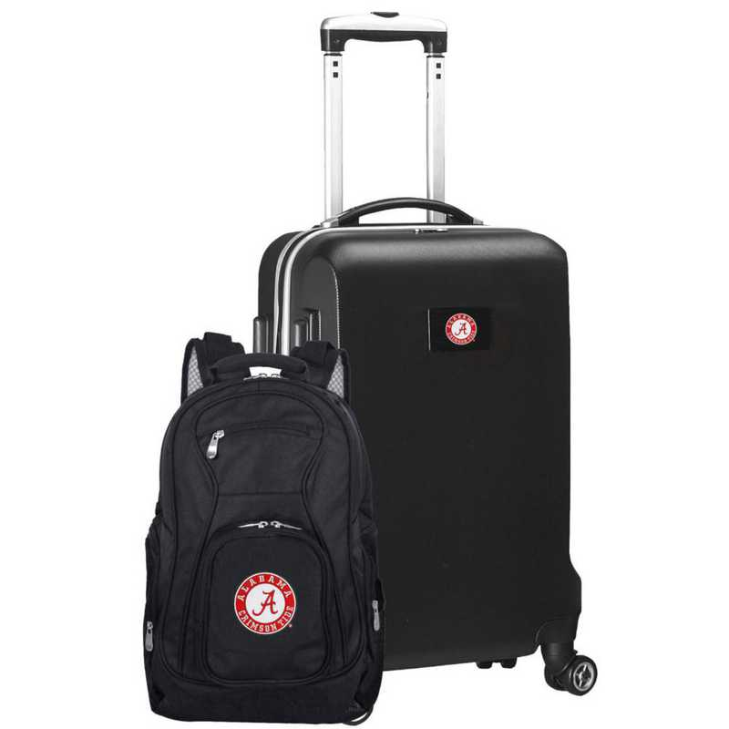 CLALL104-BLACK: Alabama Crimson Tide Deluxe 2PC BP / Carry on Set