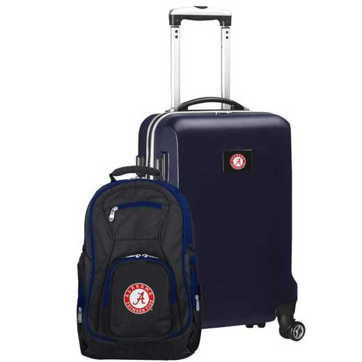 CLALL104-NAVY: Alabama Crimson Tide Deluxe 2PC BP / Carry on Set